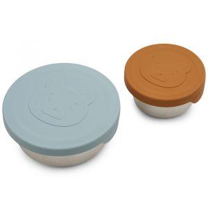 Snackboxen Fiby Mr bear sea blue mix (2st) Liewood
