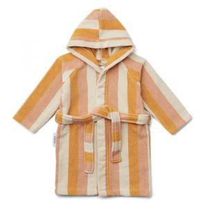 Badjas Reggie Stripe peach/sandy/yellow Liewood