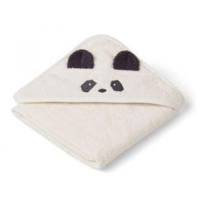 Baby badcape Albert Panda creme Liewood