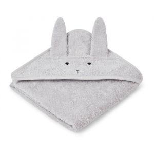 Baby badcape Albert Rabbit grijs Liewood