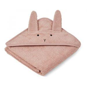 Baby badcape Albert Rabbit roze Liewood