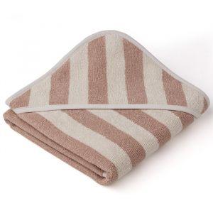 Baby badcape Alba Stripe rose-sandy Liewood