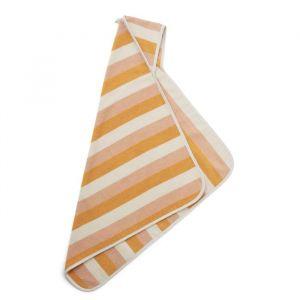 Baby badcape Alba Stripe peach/sandy/yellow mellow Liewood
