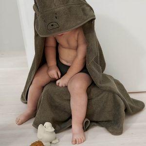 Baby badcape Albert Mr bear khaki Liewood
