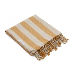 Hamman handdoek Mona Stripe mustard/sandy Liewood