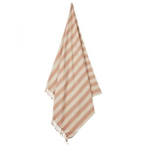 Hamman handdoek Mona Stripe tuscany rose/sandy Liewood