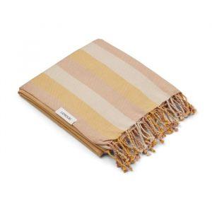 Hamman handdoek Mona Stripe peach/sandy/yellow Liewood