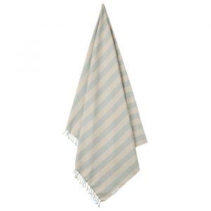 Hamman handdoek Mona Stripe sea blue/sandy Liewood