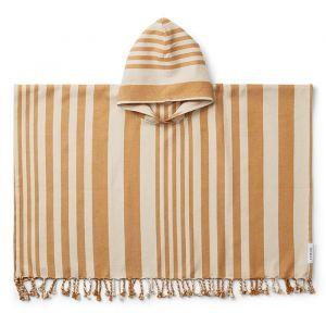 Poncho hammam Roomie Stripe mustard/sandy Liewood