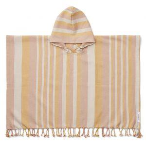 Poncho hammam Roomie Stripe peach/sandy/yellow Liewood