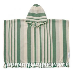 Poncho hammam Roomie Stripe green/sandy/blue Liewood