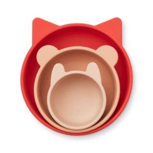 Siliconen kommen Eddie Apple red/rose mix (3st) Liewood