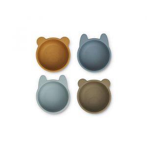 Siliconen kommen Malene Golden caramel/blue (4st) Liewood