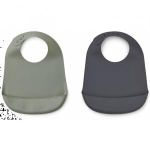 Siliconen slab Tilda faune green-stone grey  (2st) Liewood