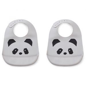 Slab siliconen Tilda Panda dumbo grey (2st) Liewood