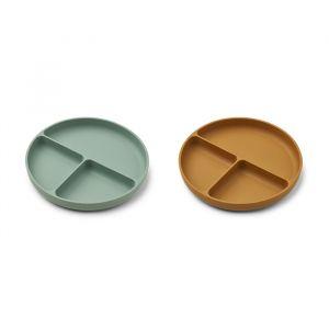 Siliconen vakkenborden Harvey Peppermint/caramel Liewood