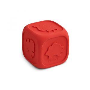 Siliconen dobbelsteen Andrew Apple red Liewood