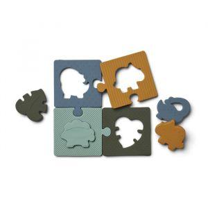 Siliconen puzzel Bodil Dino blue multi mix Liewood