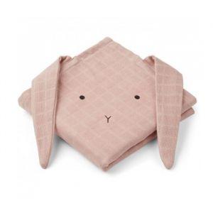 Hydrofiele doeken Hannah Rabbit roze (2st) Liewood