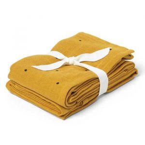 Hydrofiele doeken Classic dot mustard (2st) Liewood