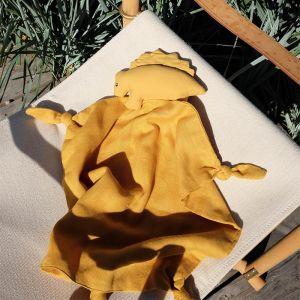 Knuffeldoek Agnete Dino yellow mellow Liewood