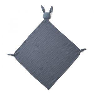 Knuffeldoek Robbie Rabbit blue wave (60x60cm) Liewood