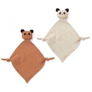 Knuffeldoekjes Yoko Panda tuscany rose/sandy (2st) Liewood