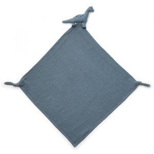 Knuffeldoek Robbie Dino blue wave Liewood