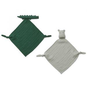 Knuffeldoekjes Yoko Mini Safari green mix (2st) Liewood