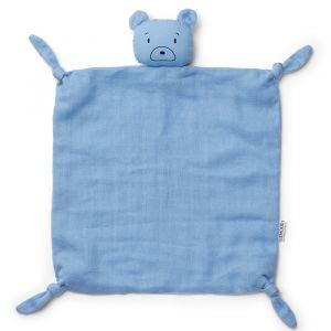Knuffeldoek Agnete Mr bear sky blue Liewood