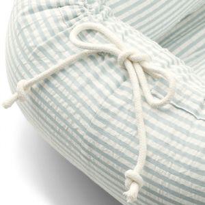 Gro babynest Stripe sea blue/white Liewood