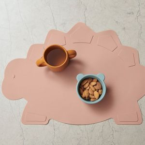 Siliconen placemat Tracy Dino dark rose Liewood