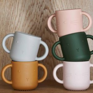 Siliconen drinkbekers Gene Cat lavender/rose (2st) Liewood