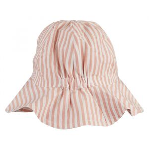 Zonnehoedje Amelia Stripe coral blush/creme Liewood