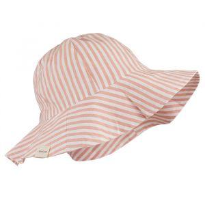 Zonnehoedje Amelia Stripe coral blush creme Liewood