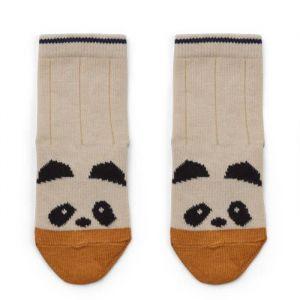 Sokken set Silas Panda/Stripe ecru maat 19/21 Liewood