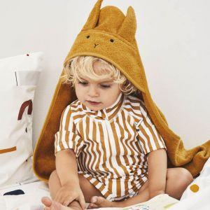 Baby badcape Albert Rabbit mustard Liewood