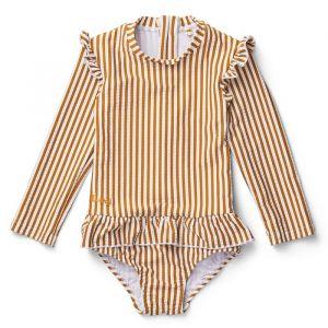 Badpak Sille Stripe mustard/white (maat 68/74) Liewood