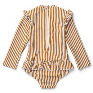 Badpak Sille Stripe mustard/white Liewood