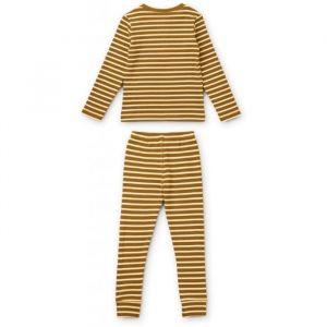Pyjama Wilhelm Stripe Golden caramel Liewood