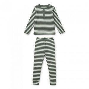 Pyjama Wilhelm Stripe Hunter green/sandy Liewood
