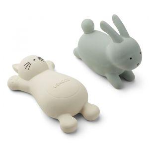 Badspeeltjes Vikky Cat/Rabbit creme-mint (2st) Liewood