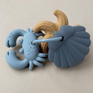 Siliconen bijtspeeltjes Tonk blue multi mix (3st) Liewood