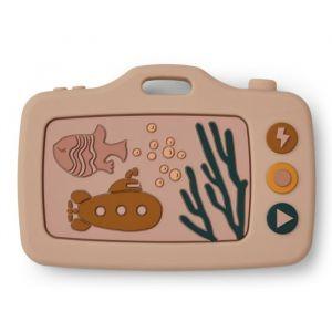 Siliconen speelgoedcamera Steven Sea Creature rose Liewood