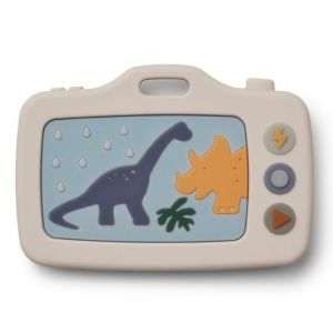 Siliconen speelgoedcamera Steven Dino sandy/green Liewood