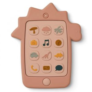 Siliconen speelgoedtelefoon Thomas Dino rose Liewood