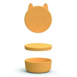 Siliconen snackbox groot Charlot Rabbit yellow Liewood