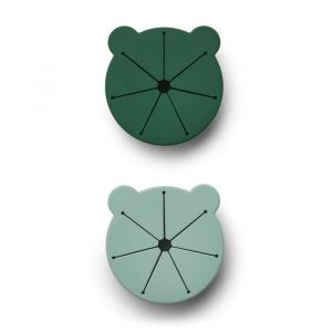 Siliconen snackbakjes Kelly Mr Bear green mix (2st) Liewood
