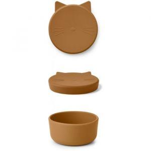 Siliconen snackbox midi Cornelius Cat mustard Liewood