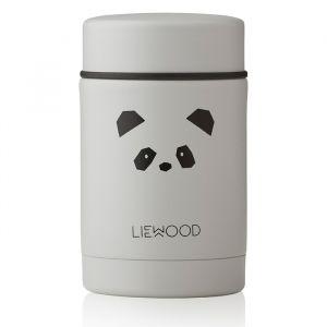 Food jar Nadja Cat Panda light grey (250ml) Liewood